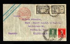 1200-ARGENTINA-AIRMAIL ZEPPELIN COVER BUENOS AIRES to HAMBURG (germany)1935.WWII