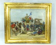 La Republique - großes Bild Ölbild sign. A. Kubach 1887 Französische Kolonie