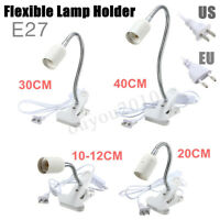 10-40CM E27 Flexible Clip on Switch Light Lamp Cord Bulb Holder Socket    G