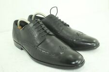 HUGO BOSS WING TIP SIZE UK 10 US SIZE 11 BLACK IN GOOD CONDITION