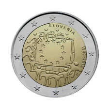 "Slovenia 2 Euro commemorative coin 2015 ""30 Years of EU Flag"" UNC"