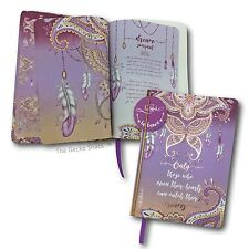 Mandala Feather Butterfly Dreams 100 blank pge Journal w/ Rose Gold Lisa Pollock