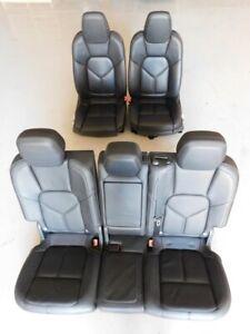 Porsche Cayenne Diesel S 958 92A 2013 Black Leather Front Rear Seat Set J122