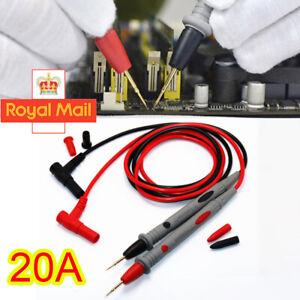 1000 V 20A Digital Multimeter Lead Probes Test Clips Alligator Volt Meter Cable