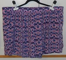 WOMEN'S a.n.a PINK AND BLUE PULL-ON SHORTS - SIZE 3XL PLUS