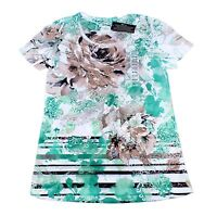 Style & CO. Ladies Fashion Short Sleeve Floral Print Shirts Tops Womens Size S