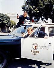 KENT MCCORD MARTIN MILNER ADAM-12 PHOTO GUNS DRAWN PLYMOUTH BELVEDERE POLICE CAR