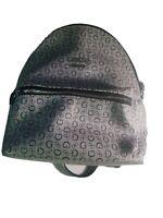 GUESS Women's  Gray Logo Print Backpack Mini Handbag Pursue NWOT Excellent