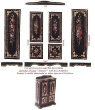 1:12 scale Natasha Beshenkovsky's Mini Decoupage- Victorian style Wardrobe