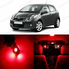 8 x Red LED Interior Lights Package Kit Deal For Toyota Yaris 2007 - 2011