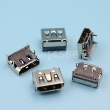 100Pcs HDMI Type A Female 2Row 19Pin DIP Right Angle PCB Solder Connector