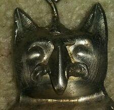 Vintage Metal Owl Cat Bell strange handmade