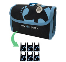 Footprint Bags Reusable bags  6 Bag Pack Blue