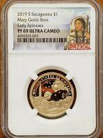 2019-S Sacagawea,Mary Ross Dollar NGC PF69 UCAM Early Releases #AA269-3