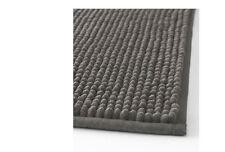 Ikea Bath Mat Rug Grey Ultra soft absorbent 90X60CM TOFTBO Bathmat-NEW