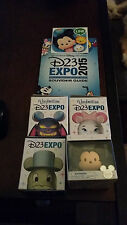 D23 2015 Disney Exclusive Vinylmation Set of 4 Jiminy Marie Chernabog Tsum Tsum!