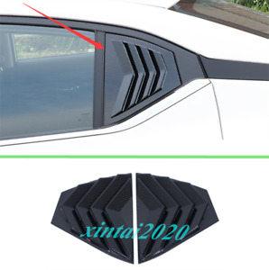 ABS Carbon Fiber Side Vents Window Louver Shield Cover For Nissan Sentra 2020