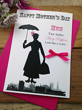Large Personalised Handmade Mother's Day Card - Mary Poppins Mum Nan Mother