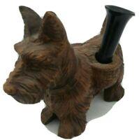 Vintage SCOTTISH TERRIER Scotty Dog Burwood Pen or Pencil Holder Figurine Syroco