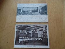 2 ALTE ANSICHTSKARTEN WÜRZBURG WEINSTUBE STACHEL 1910 u.BAHNHOF VON 1903 gel.