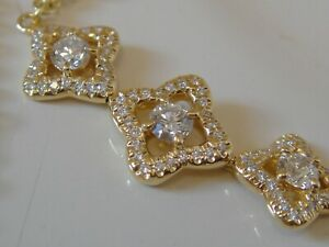 DAVID YURMAN 18K SOLID GOLD VENETIAN  QUATREFOIL DIAMOND BRACELET