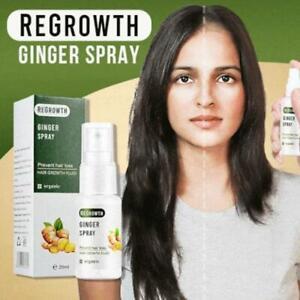 Hair Growth Dense Regrowth Ginger Serum Oil Anti-Loss Treatment Essence-Spray