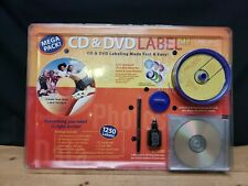 DVD/CD Label  Whiz  Cleaning and Labeling Kit. 1250 Labels,Cleaning Tool.
