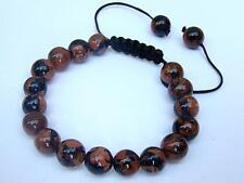 Men's bracelet all 10mm Gemstone Natural Goldstone Beads