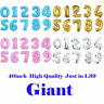 """40"""" Giant Foil Number Balloons Helium Large Baloons Happy Birthday Party Gifts"""