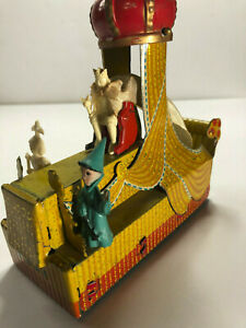 Rare Vintage Walmsley King's Float Mardi Gras New Orleans Tin Toy - Japan