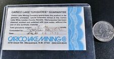 Carico Lake Turquoise Certification