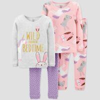 NWT Toddler Girls' 4pc Unicorn Cotton Pajama Pj's Lounge Set Just One You 18M