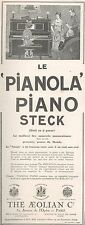 ▬► PUBLICITE ADVERTISING AD PIANOLA Piano steck The aeolian Co  1926