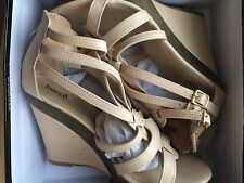 Bucco Capensis Women's Wedge Sandals Size 10 US Natural Beige NIB