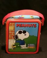 PEANUTS 1999 Series #1 ~ SNOOPY as Joe Cool Mini Metal Tin Lunchbox