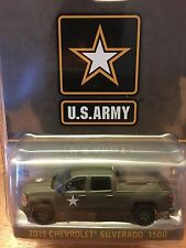Greenlight U.S. Army 2015 Chevrolet Silverado 1500. Olive Green