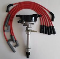 CHEVY VORTEC 1996-2001 V6 4.3L 262 Distributor + RED 8mm Spark Plug Wires USA