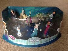 Disney FROZEN Figurine Playset DISNEY STORE OLAF ELSA ANNA SVEN NIP 6pc pvc SALE