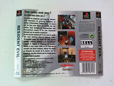 Jaquette Arriere/Back Cover Resident Evil 1 Sony Playstation 1 PAL FR