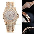 Fashion Diamond Womens Watch Steel Luxury Ladies Crystal Rhinestone Quartz Watch