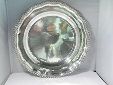 LARGE ROUND PORTUGUESE  SILVER ALLOY  833 SERVING TRAY 957 GRAMS