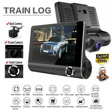 4'' HD 1080P 3 Lens Car DVR Dash Camera Vehicle Video Driving Recorder G-sensor