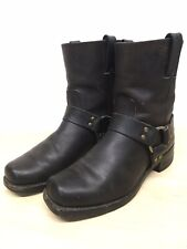 Frye Biker Boots Mens Size 9 M Motorcycle Harness Brown Leather