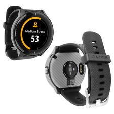 Skinomi Silver Carbon Fiber & Screen Protector for Garmin Vivoactive 3 Music