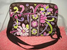 VERA BRADLEY PURPLE PUNCH MINI LAPTOP CASE TABLET SHOULDER BAG AUTHENTIC SALE