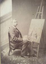 Tirage albuminé peintre au chevalet dans l'entourage de Monet ou Renoir ?