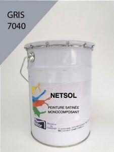 NETSOL peinture sol gris 7040 pour garage, terrasse, local (5/25 KG)