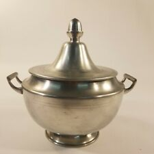 vintage woodbury pewter covered tureen domed lid acorn central finial atc mark