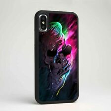 Colorful Melting Skull Art Silicone TPU Phone Cover Case for Samsung iPhone