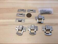 4 Crome square silver hasp small box hardware lock latch latches catches C24